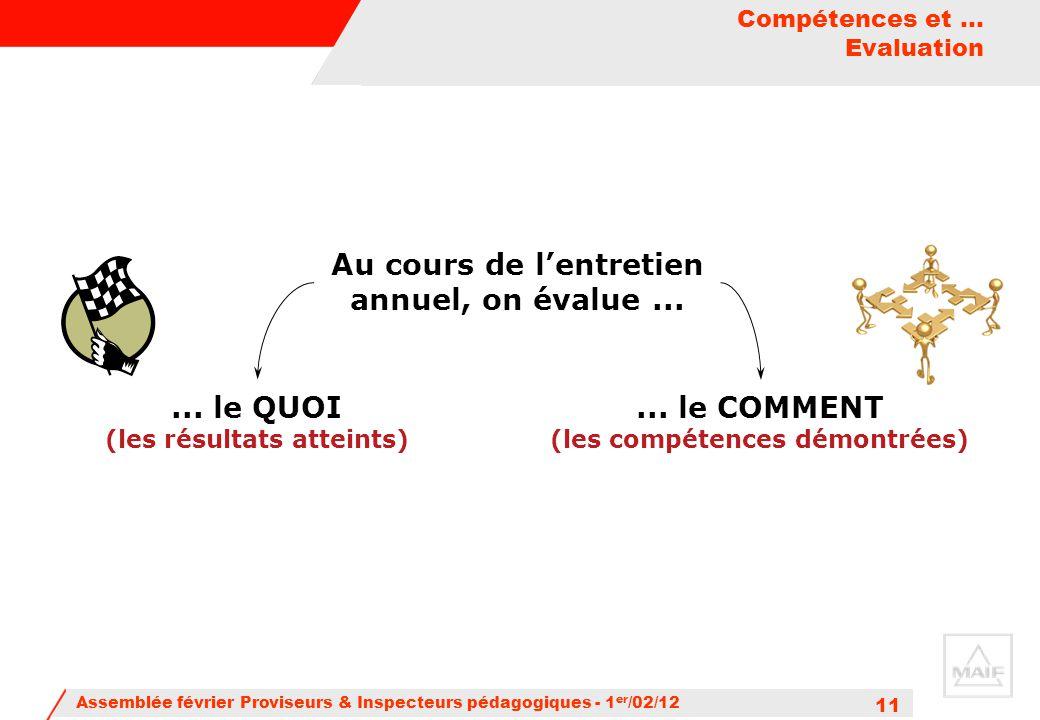 Compétences et ... Evaluation
