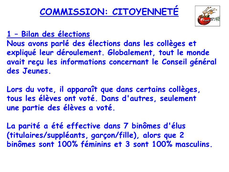 COMMISSION: CITOYENNETÉ