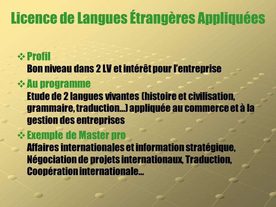 Licence de Langues Étrangères Appliquées