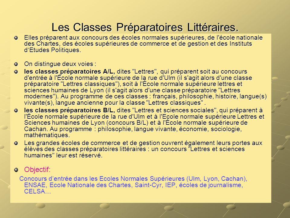 Les Classes Préparatoires Littéraires.