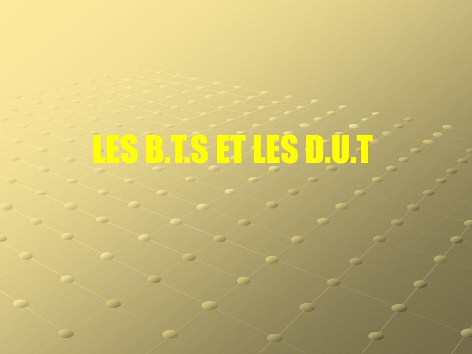 LES B.T.S ET LES D.U.T