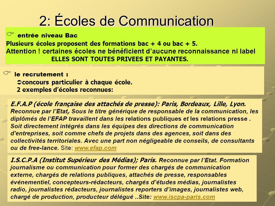 2: Écoles de Communication
