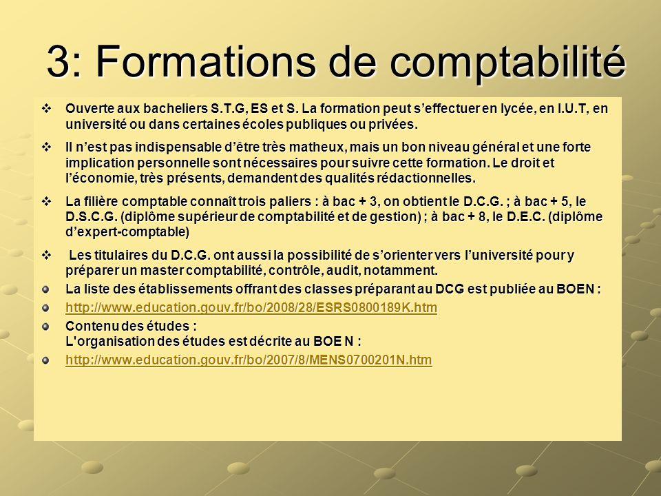 3: Formations de comptabilité