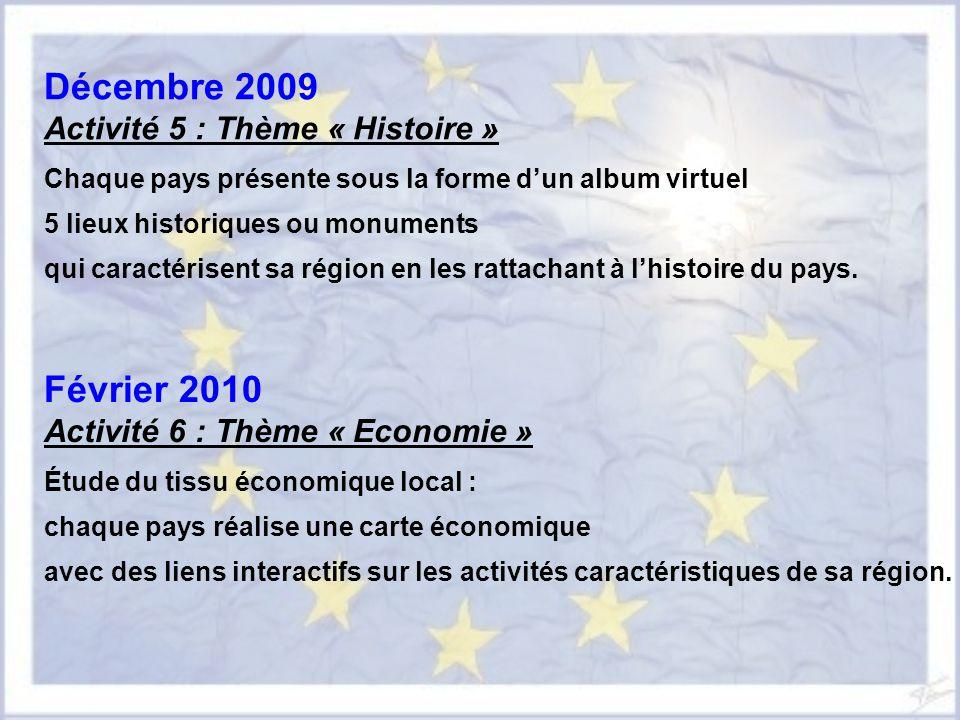 Décembre 2009 Février 2010 Activité 5 : Thème « Histoire »