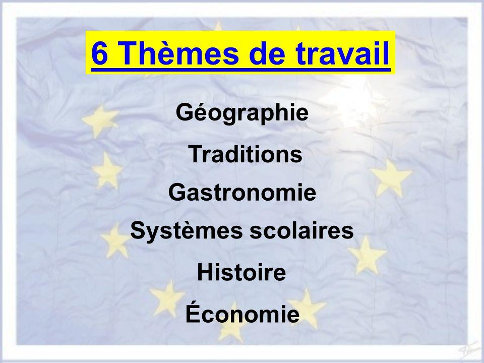 6 Thèmes de travail Géographie Traditions Gastronomie
