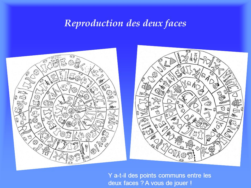 Reproduction des deux faces