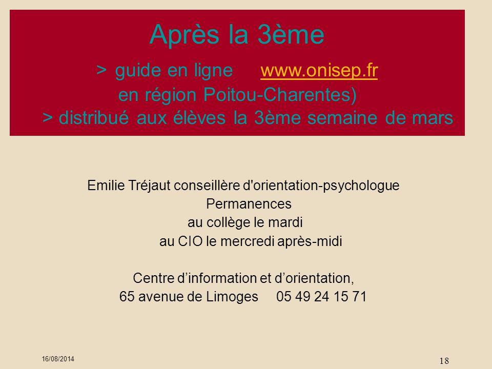 Après la 3ème > guide en ligne www.onisep.fr