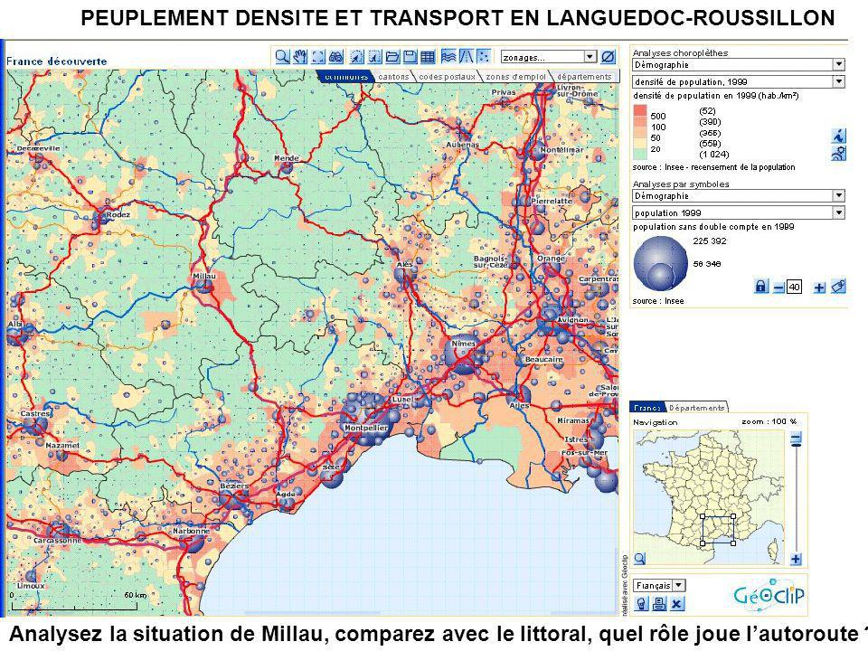 PEUPLEMENT DENSITE ET TRANSPORT EN LANGUEDOC-ROUSSILLON