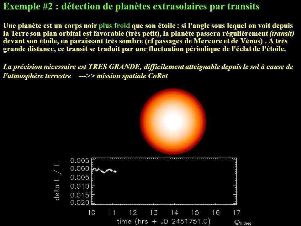 Exemple #2 : détection de planètes extrasolaires par transits