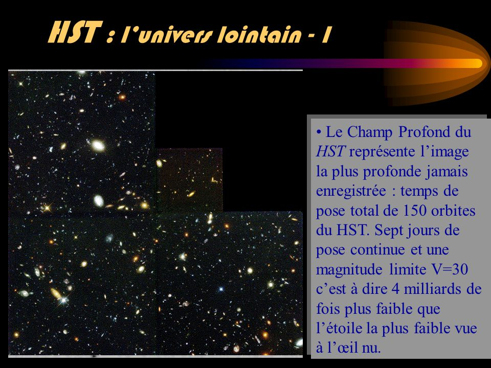 HST : l'univers lointain - 1