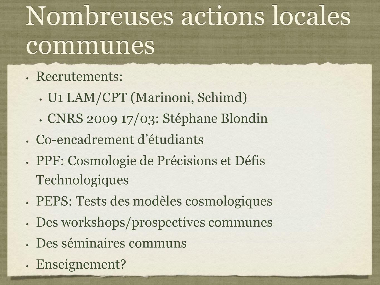 Nombreuses actions locales communes