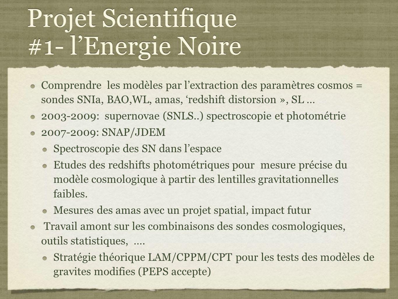 Projet Scientifique #1- l'Energie Noire