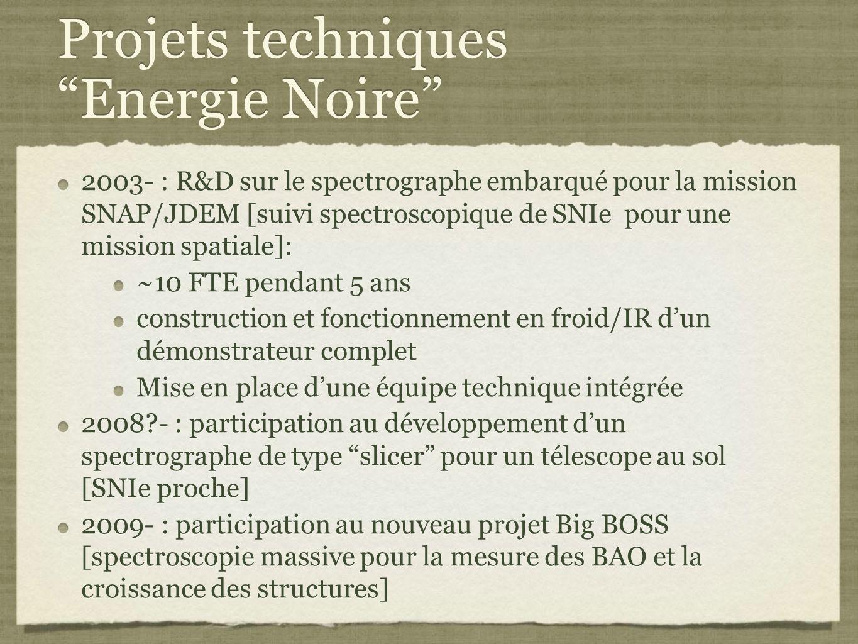 Projets techniques Energie Noire