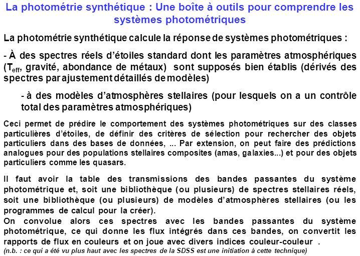 La photométrie synthétique : Une boîte à outils pour comprendre les systèmes photométriques