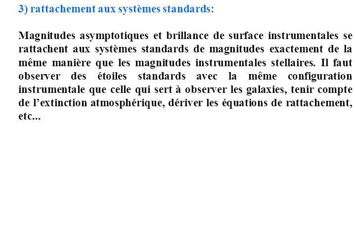 3) rattachement aux systèmes standards: