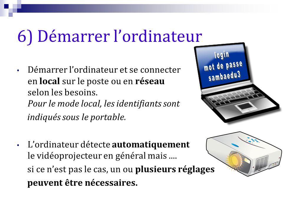 6) Démarrer l'ordinateur