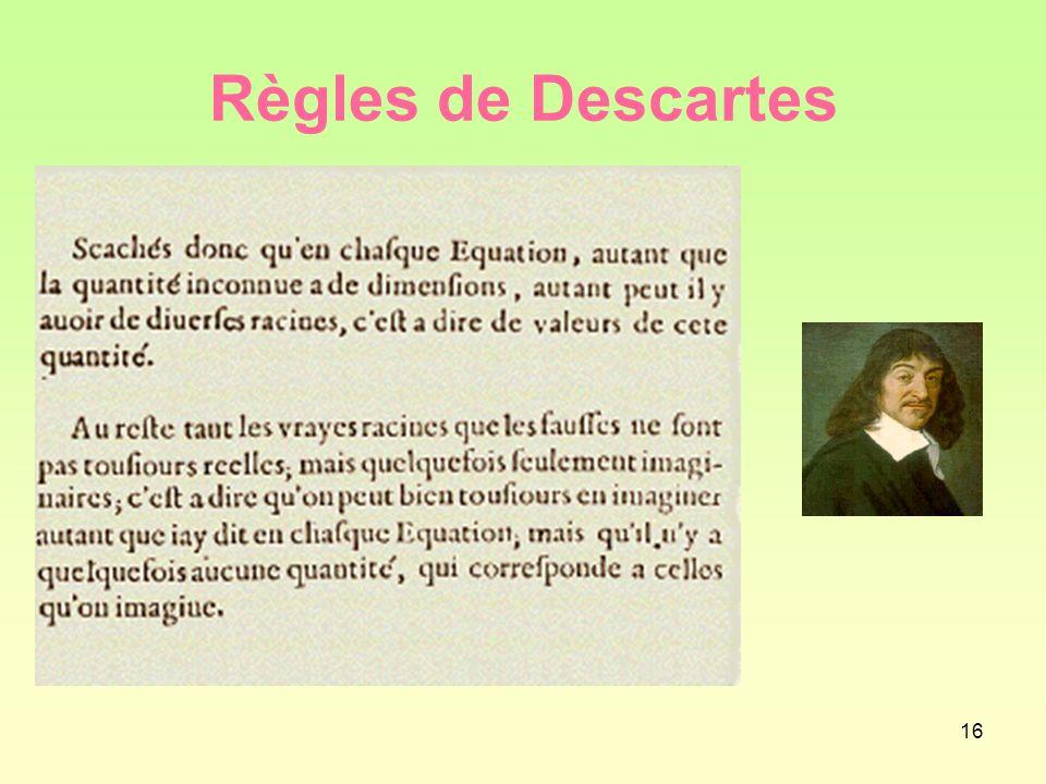 Règles de Descartes