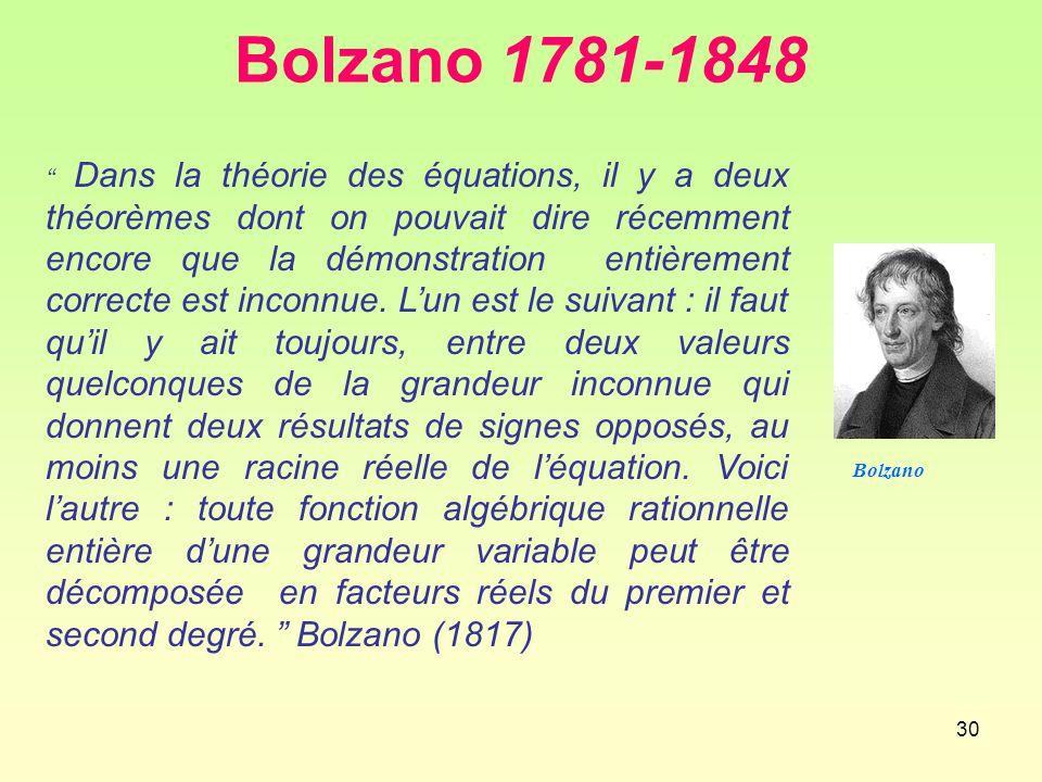 Bolzano 1781-1848