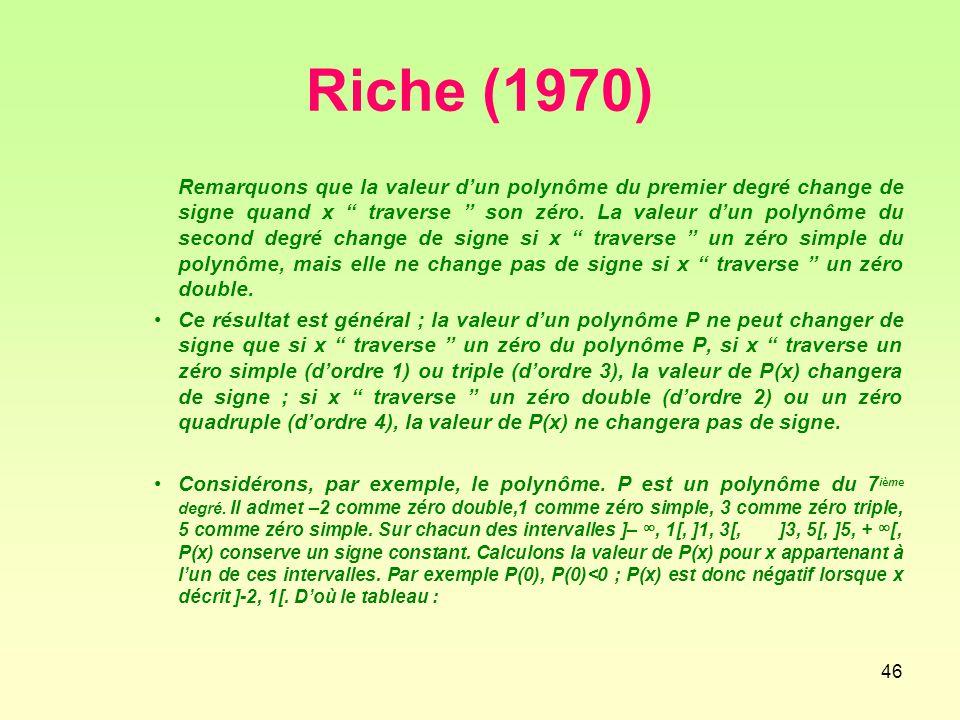 Riche (1970)