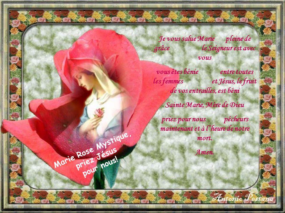 Je vous salue Marie pleine de grâce le Seigneur est avec vous