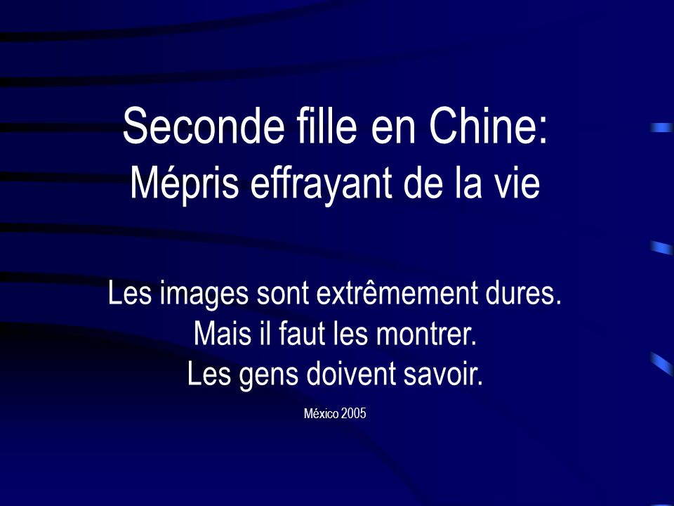 Seconde fille en Chine: