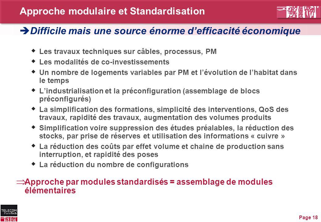 Approche modulaire et Standardisation