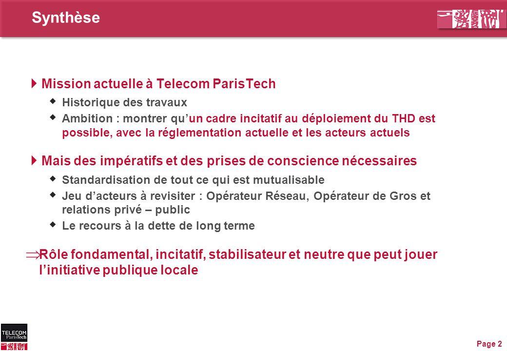 Synthèse Mission actuelle à Telecom ParisTech