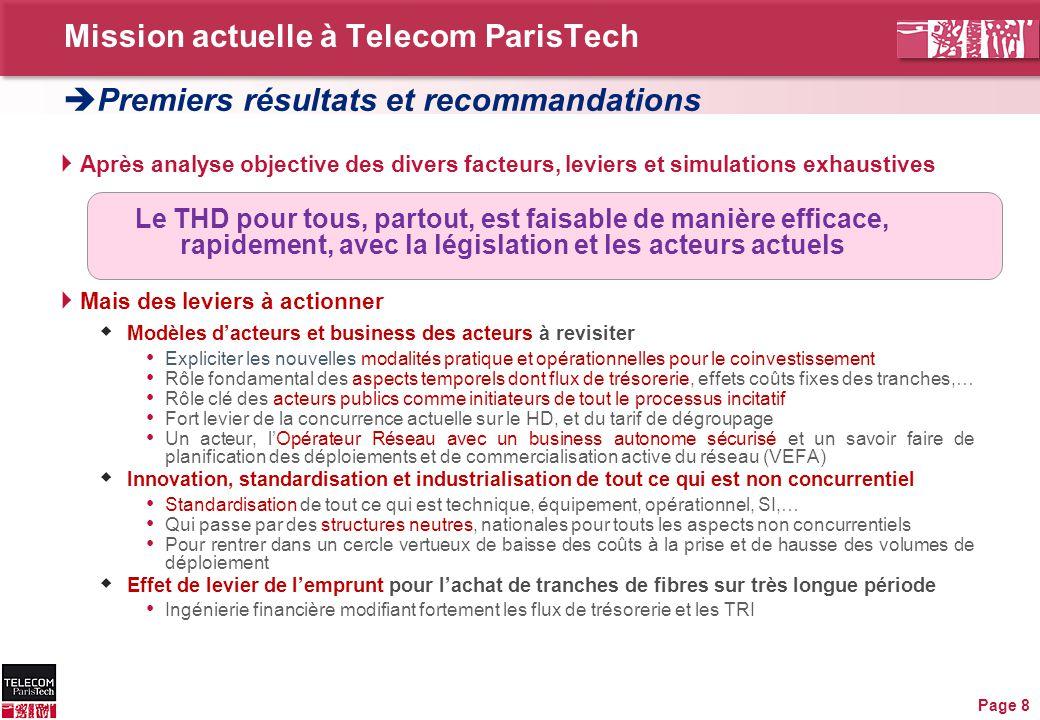 Mission actuelle à Telecom ParisTech