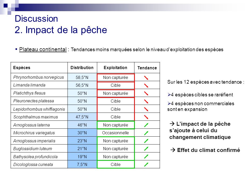 2. Impact de la pêche Discussion