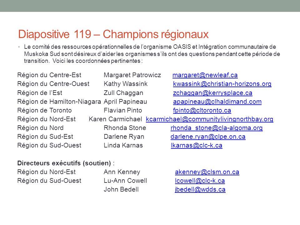 Diapositive 119 – Champions régionaux