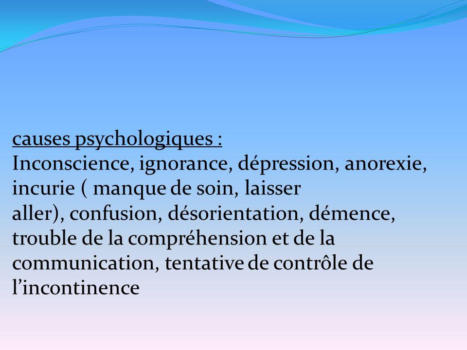 causes psychologiques :