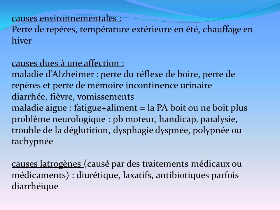causes environnementales :