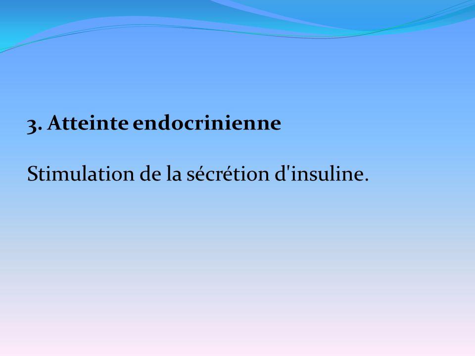 3. Atteinte endocrinienne