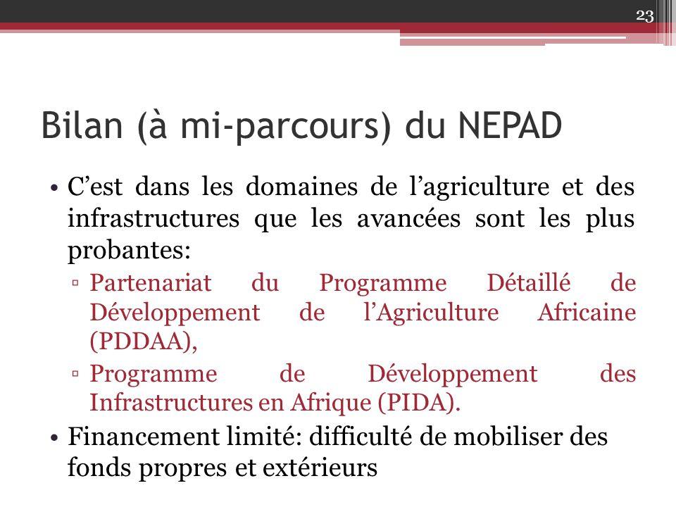 Bilan (à mi-parcours) du NEPAD