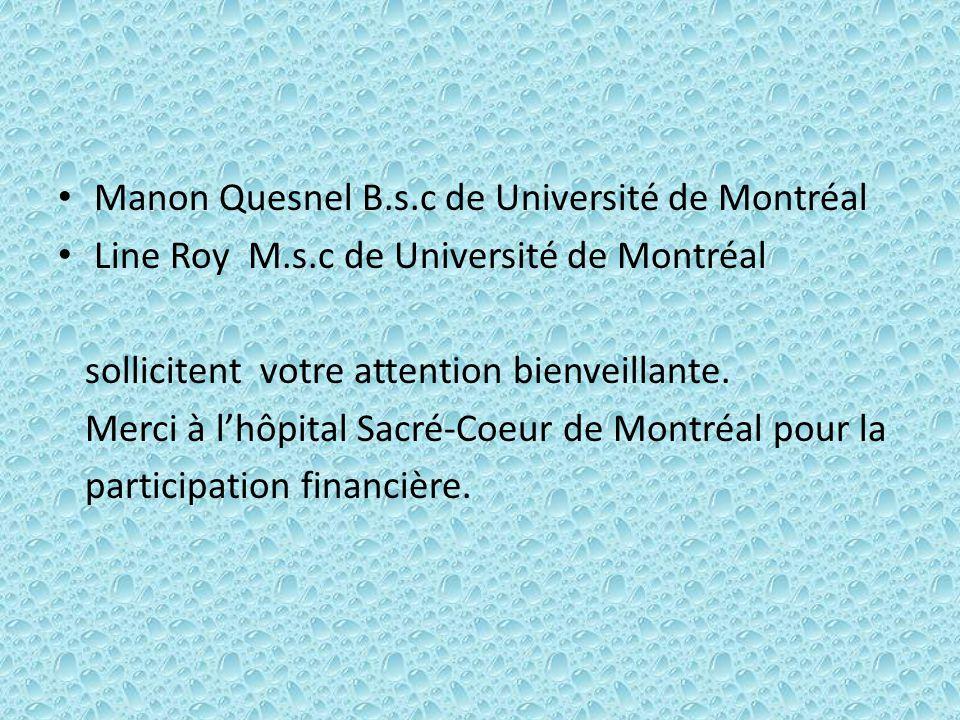 Manon Quesnel B.s.c de Université de Montréal