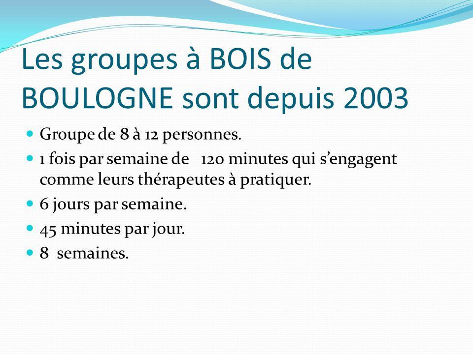 Les groupes à BOIS de BOULOGNE sont depuis 2003