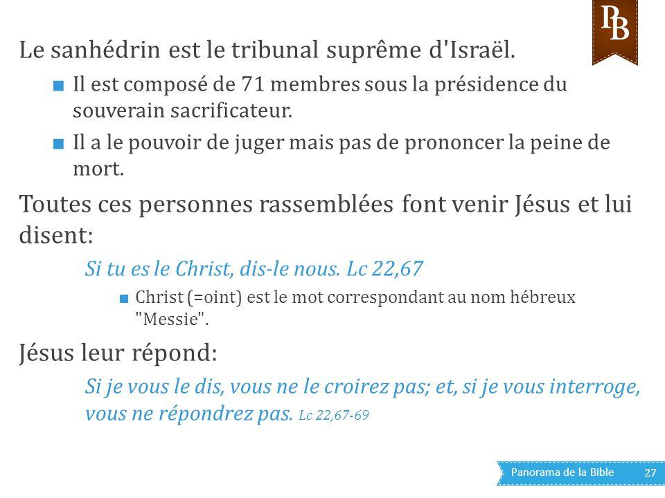Le sanhédrin est le tribunal suprême d Israël.