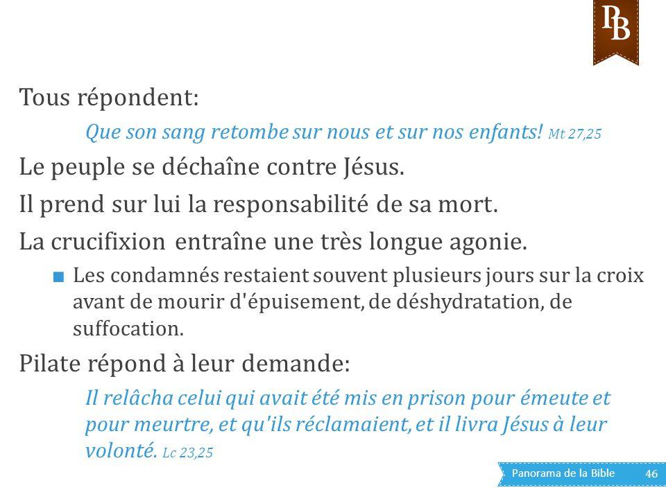 Le peuple se déchaîne contre Jésus.
