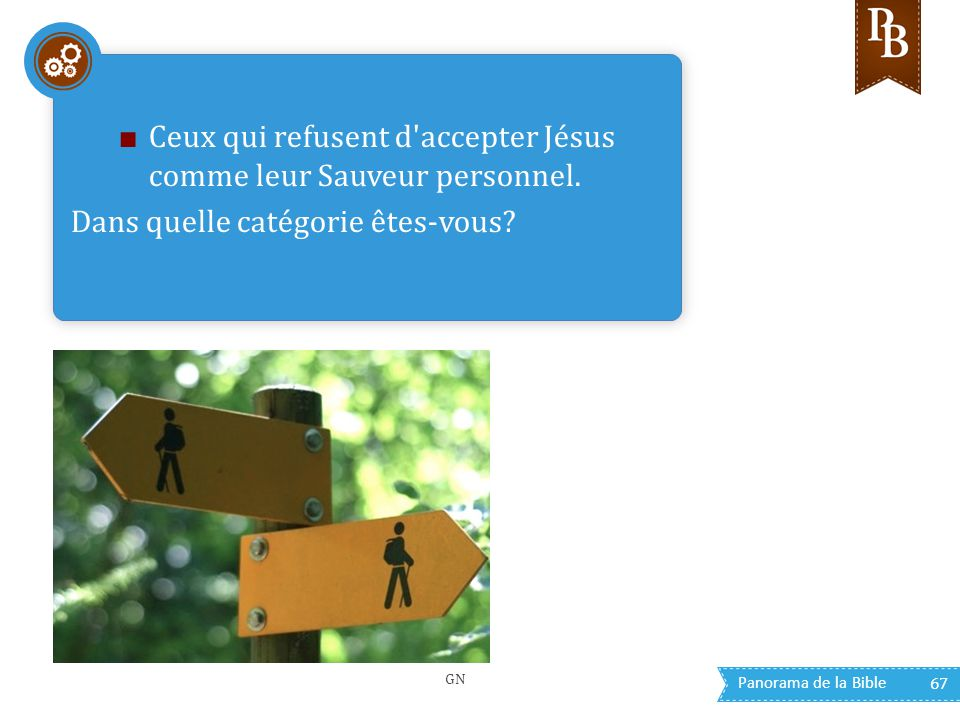Ceux qui refusent d accepter Jésus comme leur Sauveur personnel.