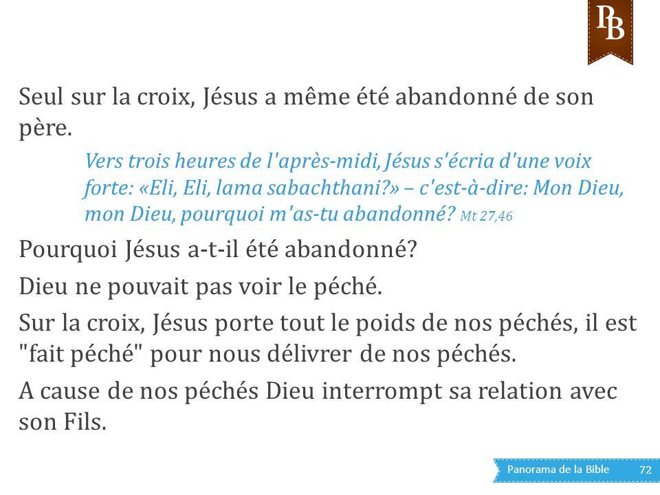 Seul sur la croix, Jésus a même été abandonné de son père.