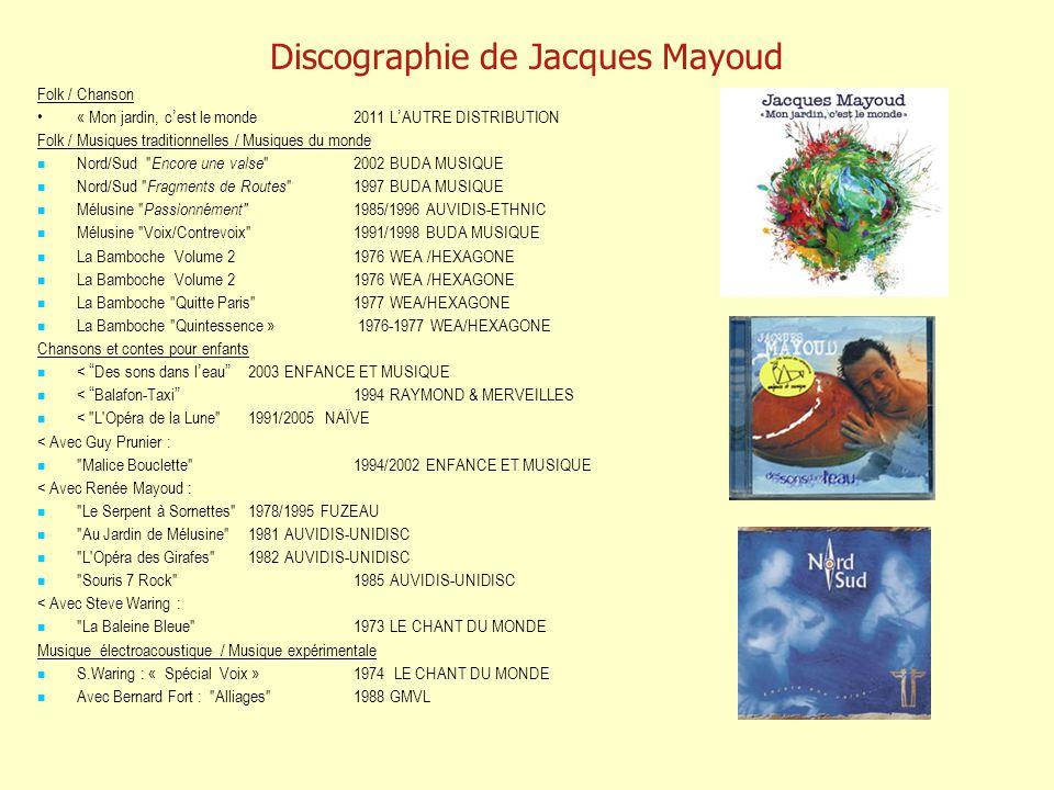 Discographie de Jacques Mayoud