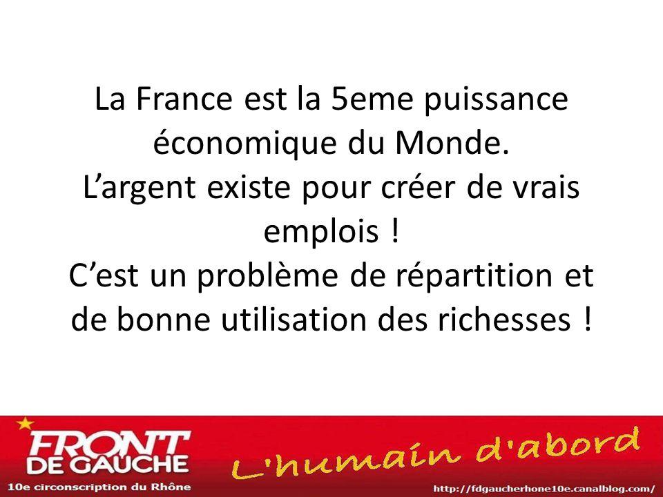 La France est la 5eme puissance économique du Monde