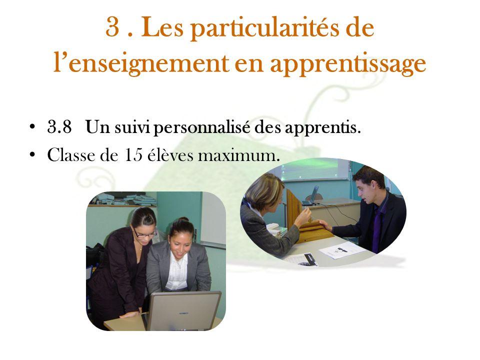 3 . Les particularités de l'enseignement en apprentissage
