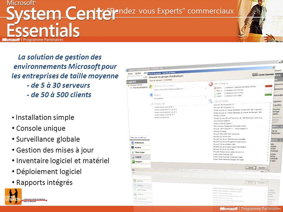 Gestion des mises à jour Inventaire logiciel et matériel
