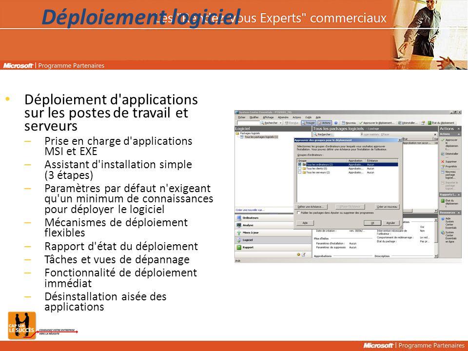 Déploiement logiciel 26/10/2006 11 h 33. Déploiement d applications sur les postes de travail et serveurs.
