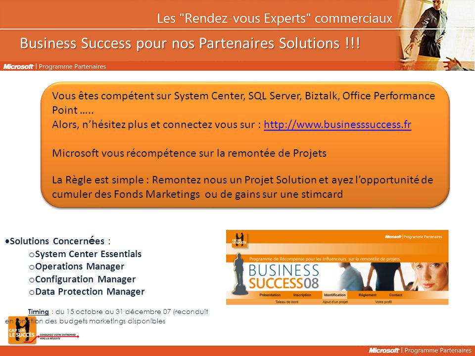 Business Success pour nos Partenaires Solutions !!!
