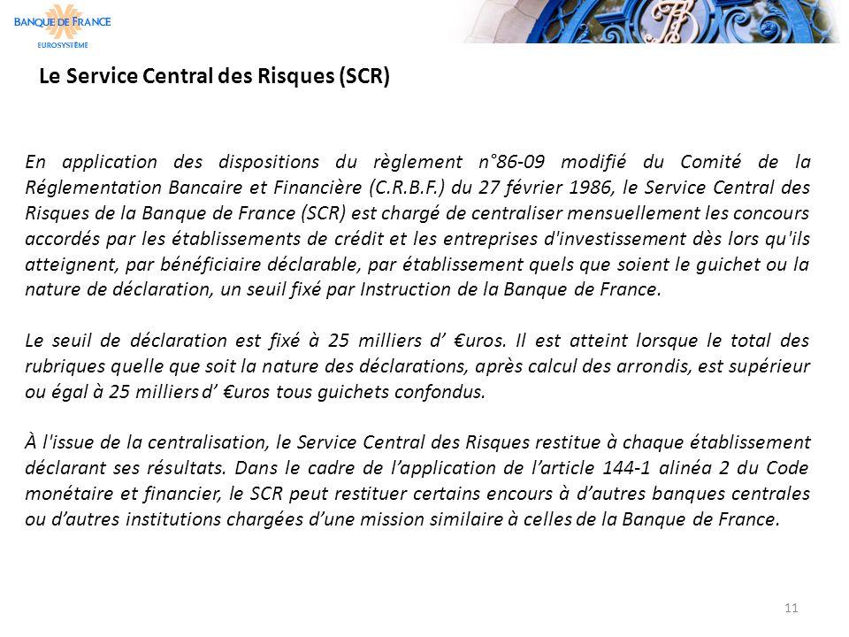 Le Service Central des Risques (SCR)