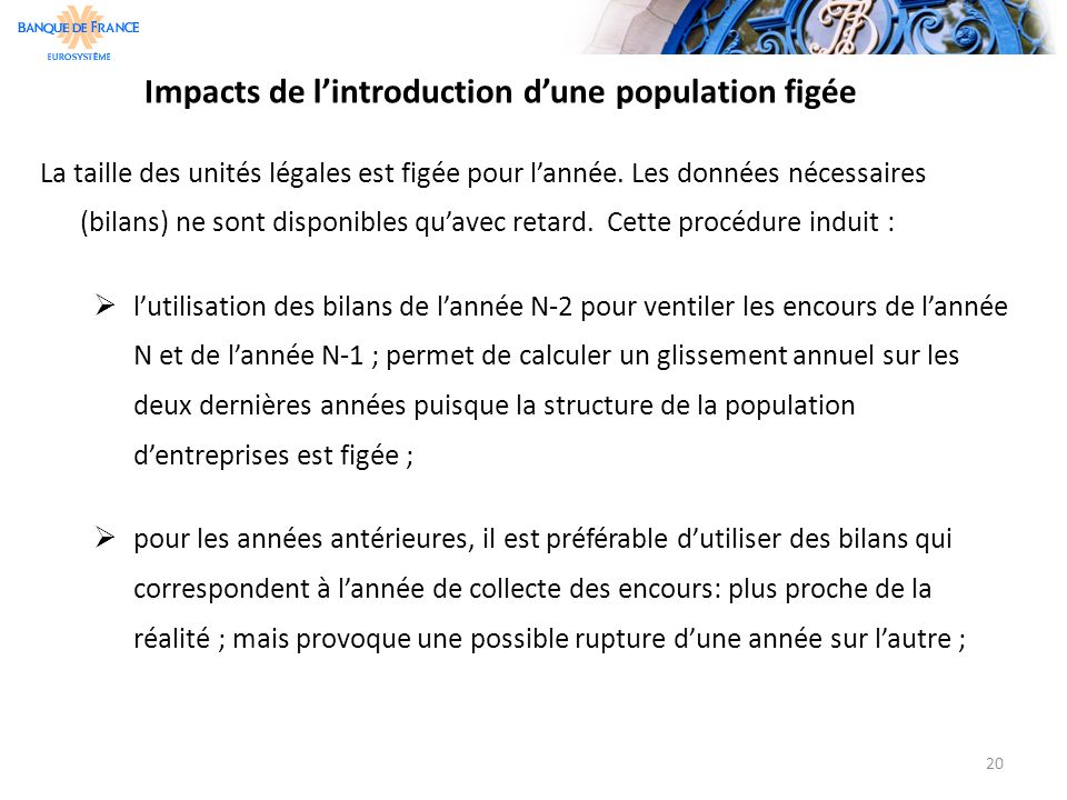 Impacts de l'introduction d'une population figée