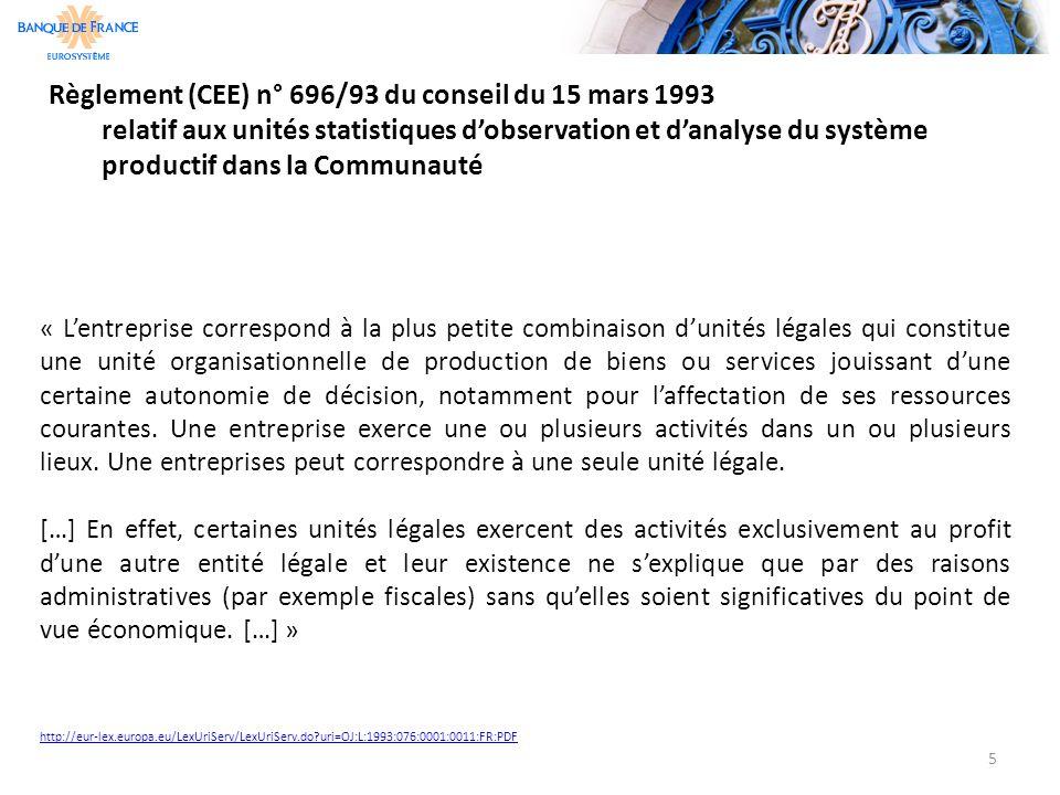 Règlement (CEE) n° 696/93 du conseil du 15 mars 1993