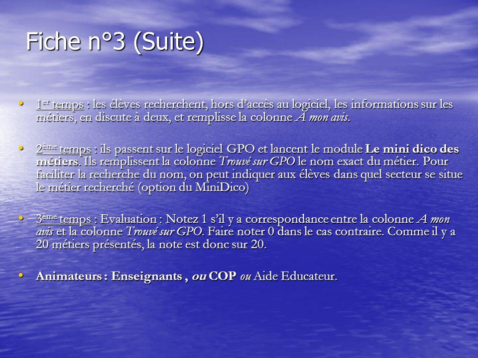 Fiche n°3 (Suite)